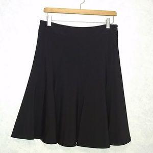 Rafaella lined black paneled swing skirt 10 Petite